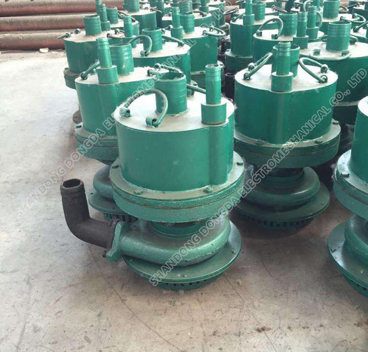 Pneumatic submersible pump for mine