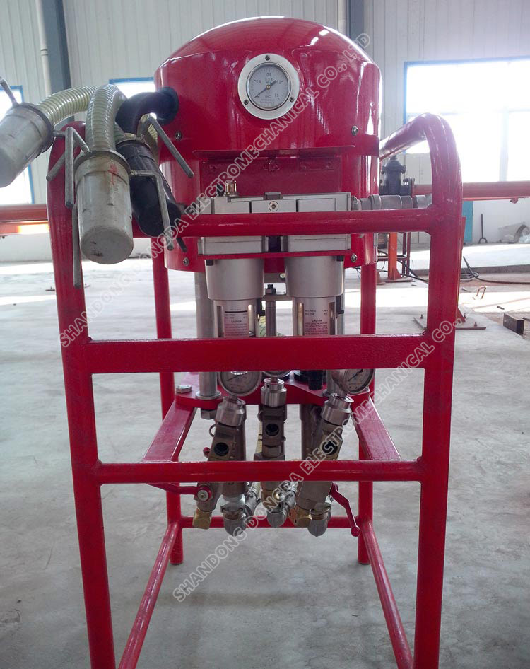 Pneumatic double - fluid grouting pump